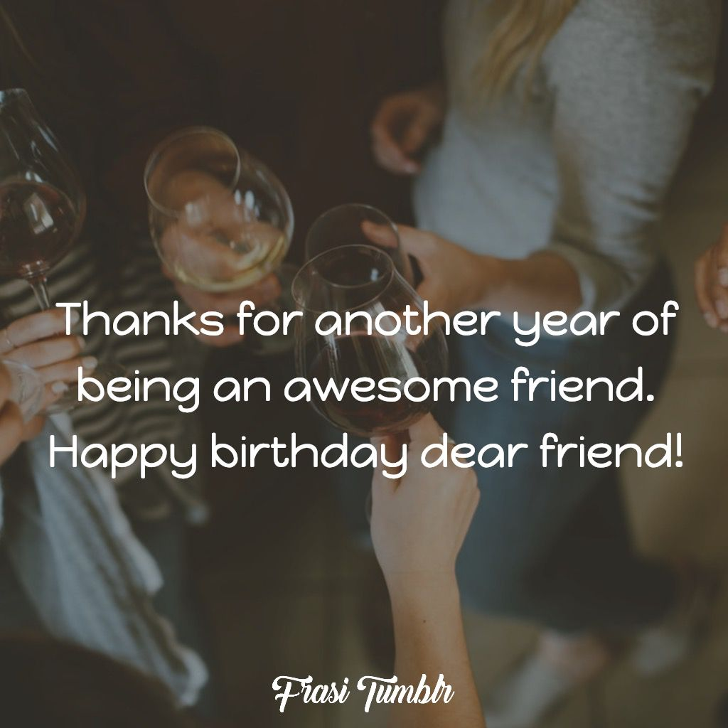 buon compleanno inglese awesome friend