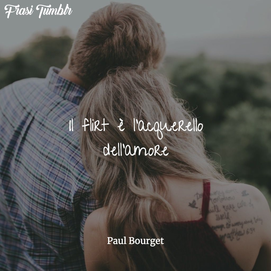 flirt acquerello amore bourget