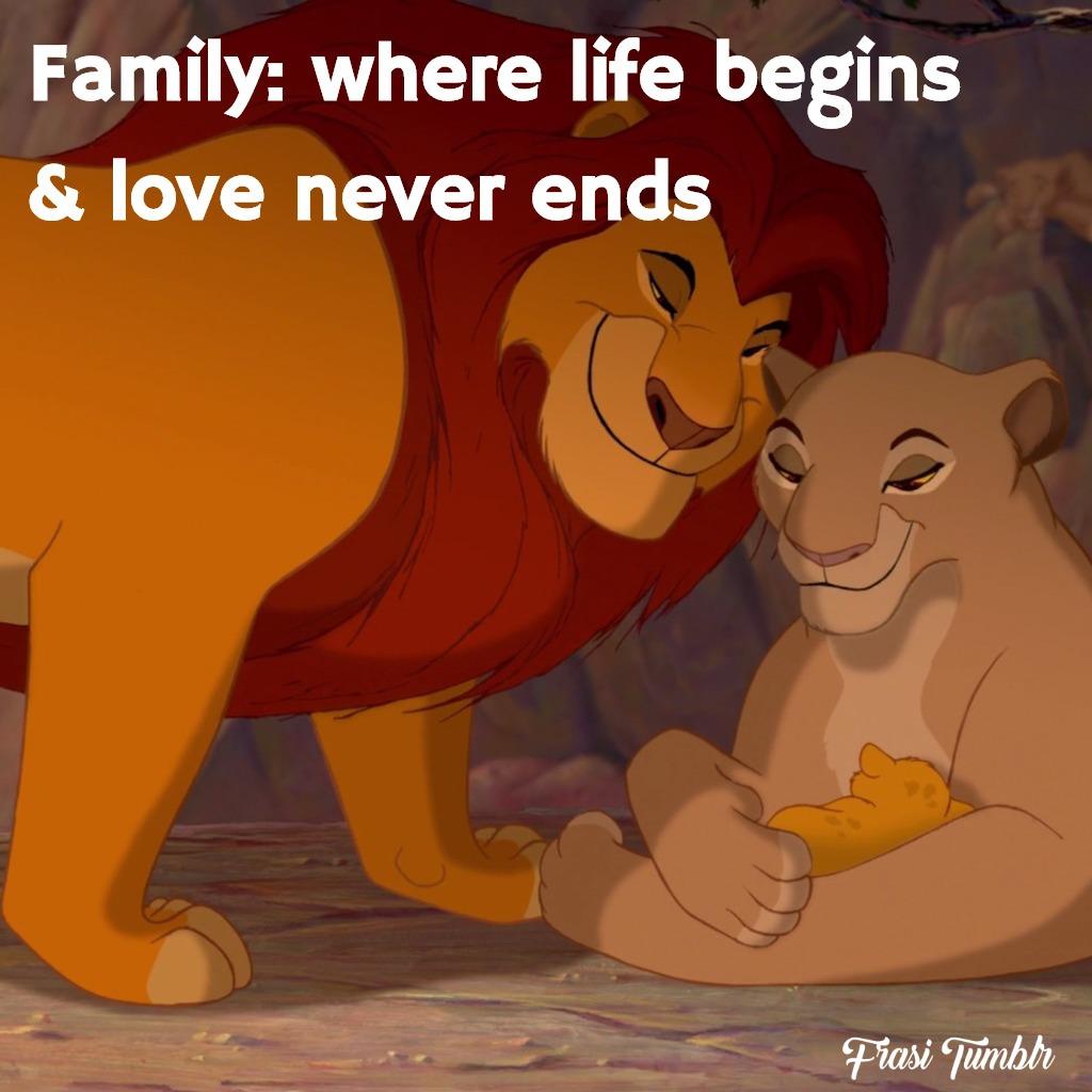 frasi-famiglia-inglese-amore-comincia-finisce