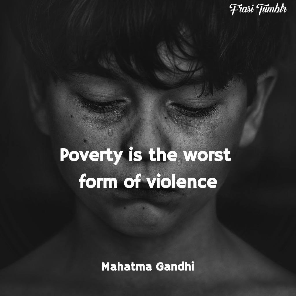frasi-violenza-non-violenza-inglese-povertà