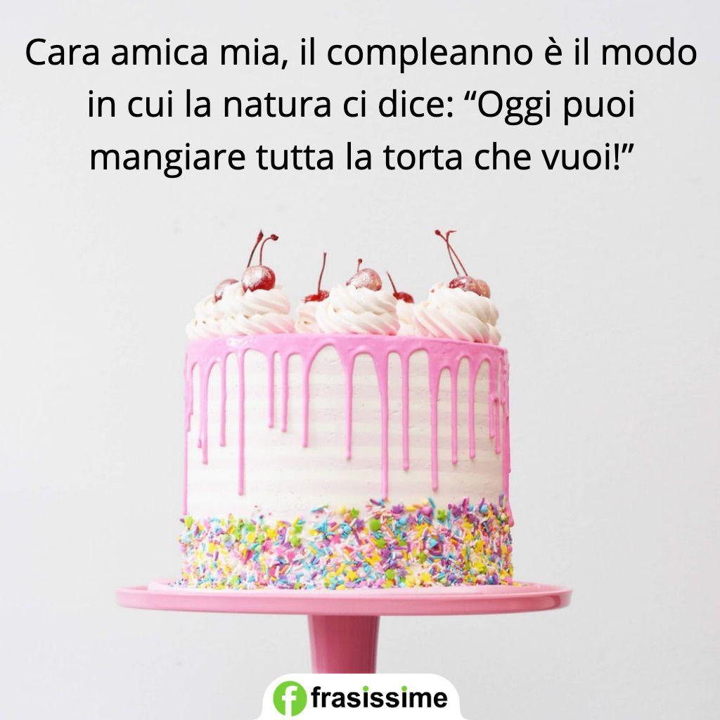 auguri compleanno amica natura dice torta