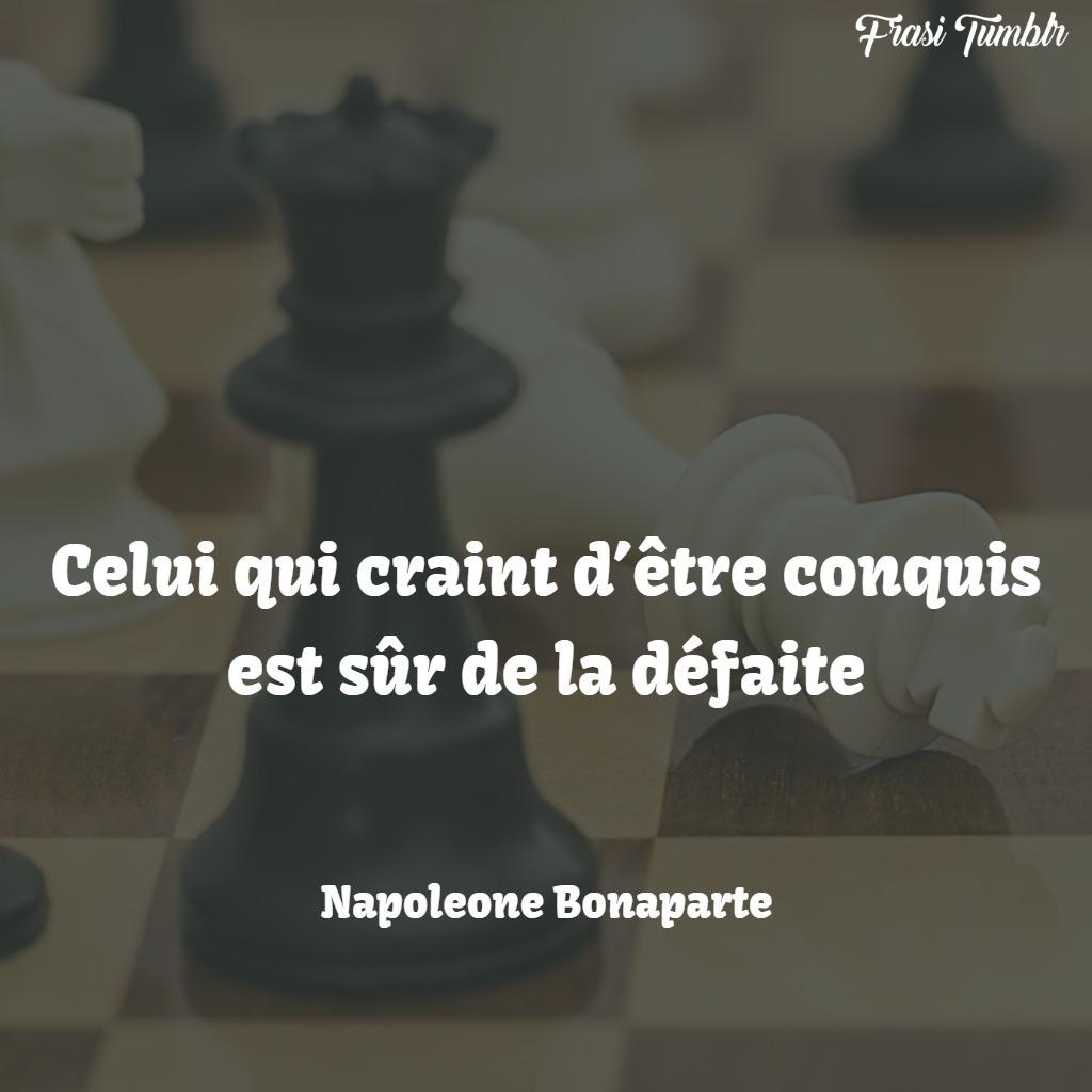frasi napoleone bonaparte francese coraggio perdere sconfitta