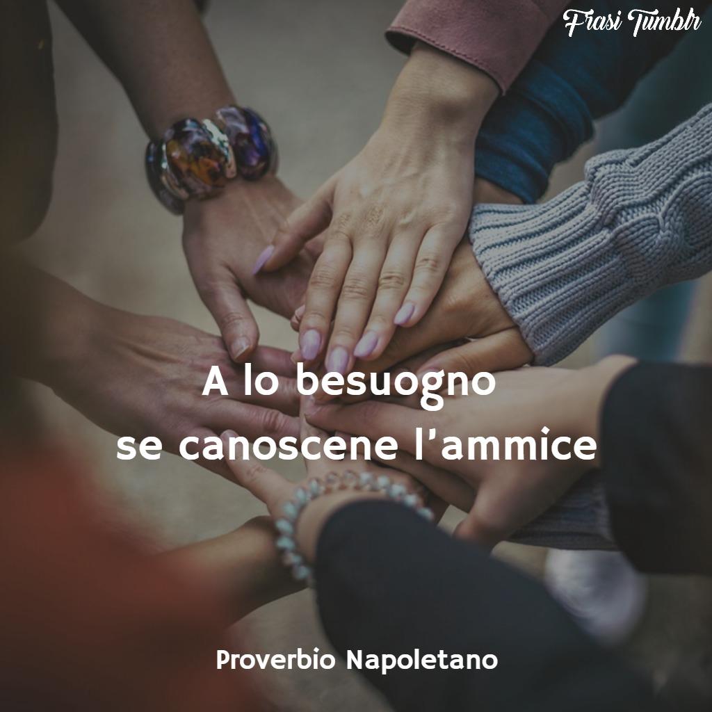 frasi proverbi napoletani amicizia bisogno amici