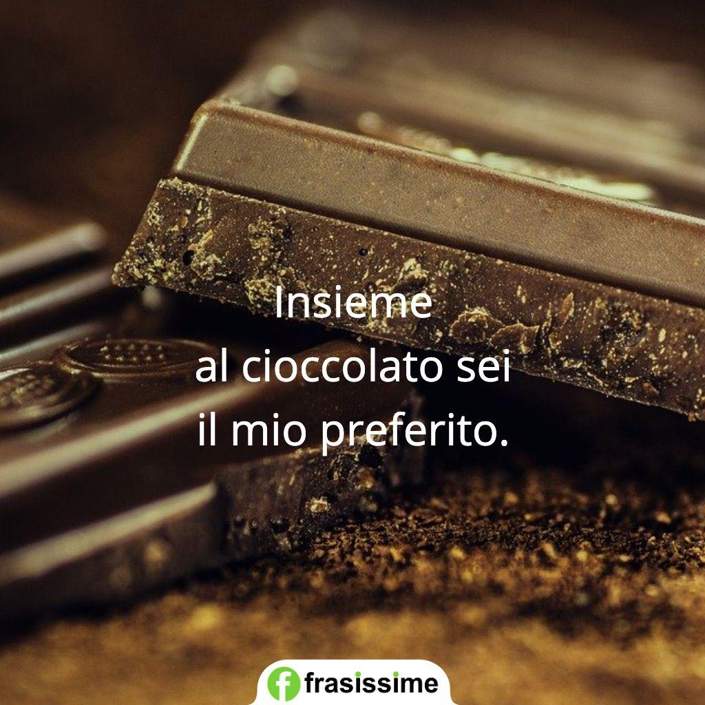 frasi per dire ti amo insieme cioccolato preferito