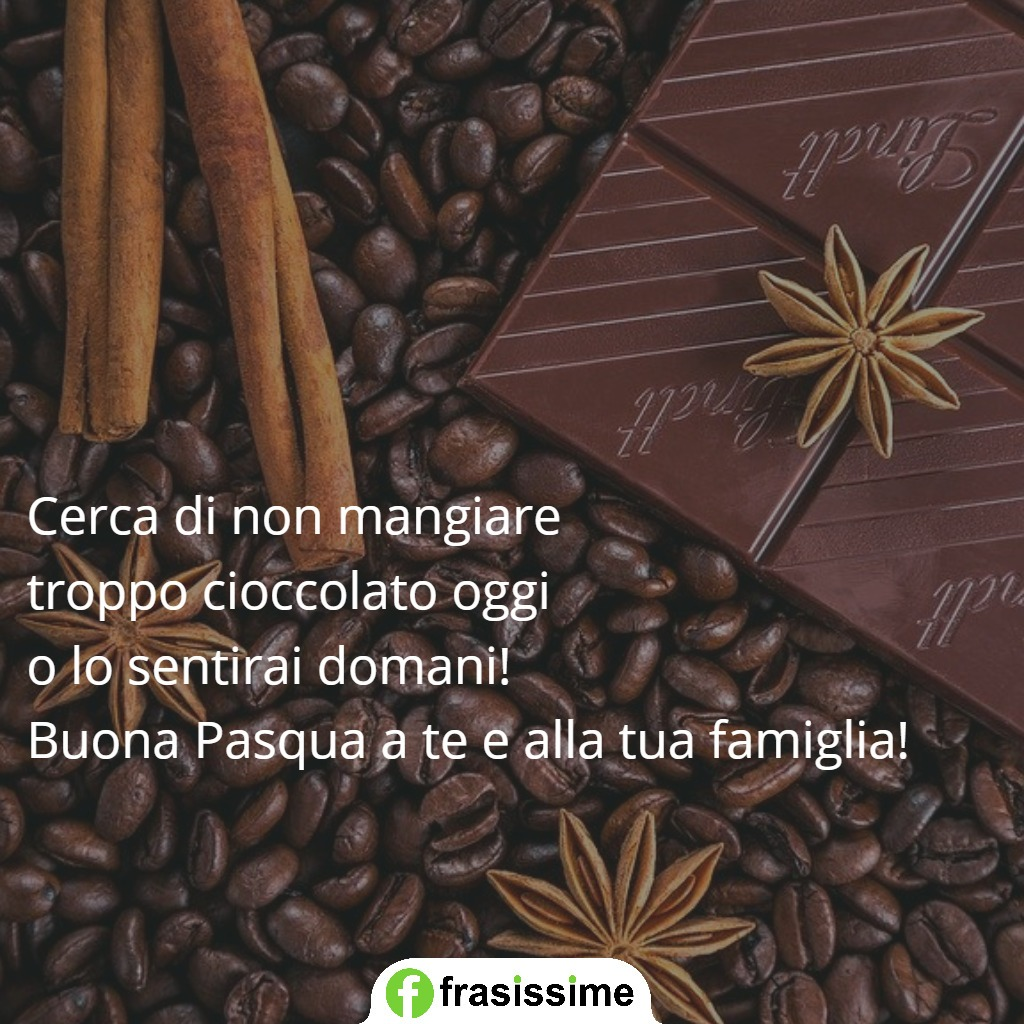immagini frasi auguri pasqua cioccolato famiglie