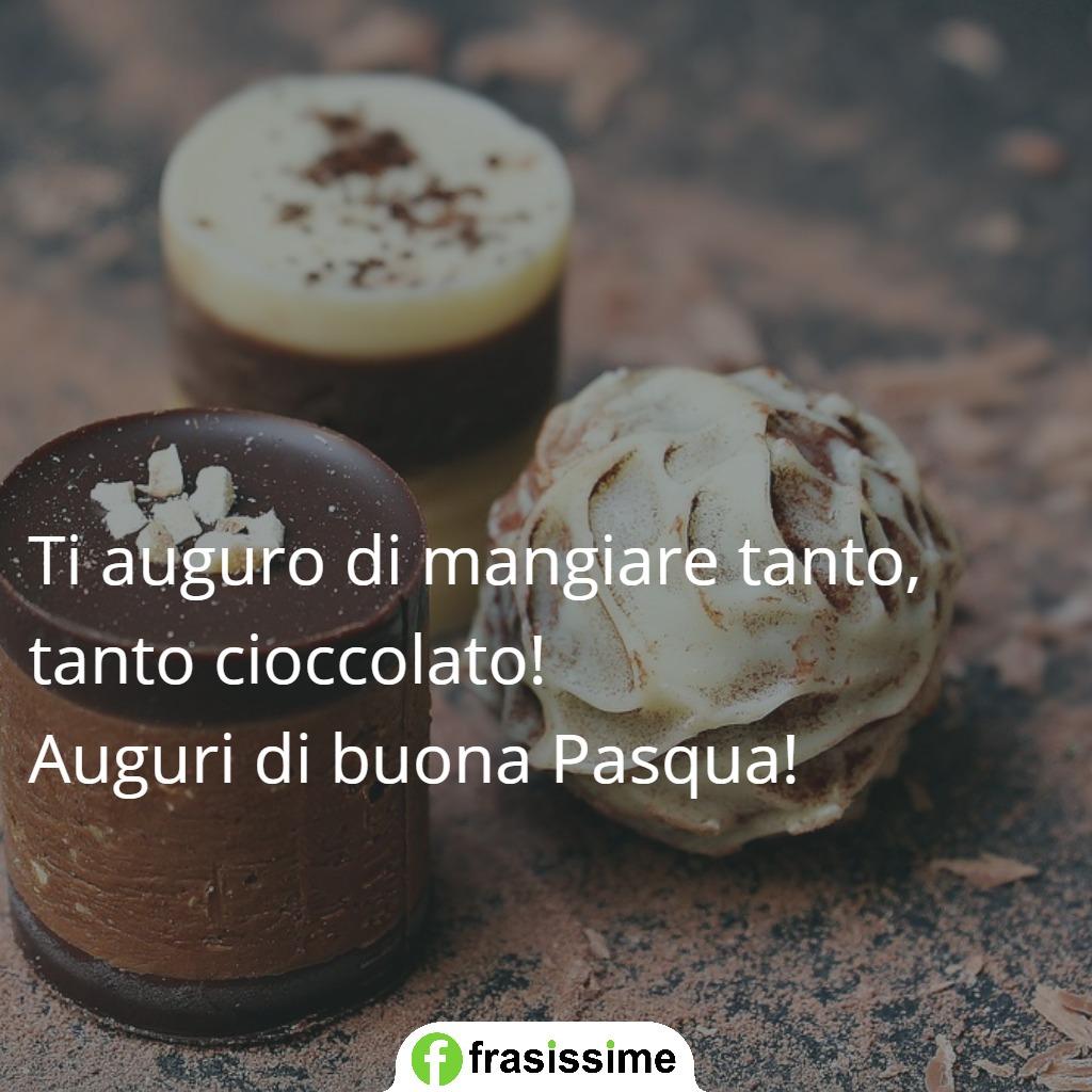 immagini frasi auguri pasqua cioccolato mangiare