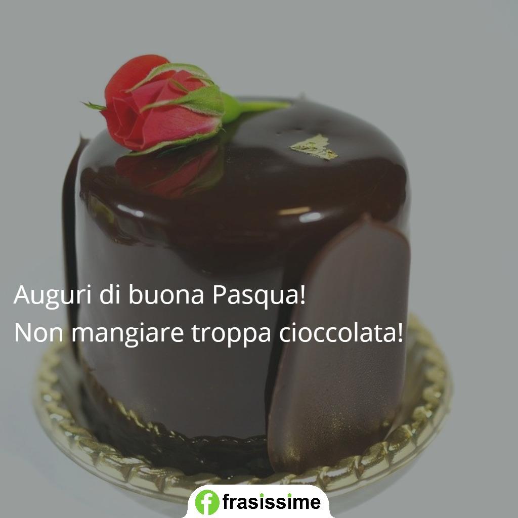 immagini frasi auguri pasqua mangiare troppa cioccolata
