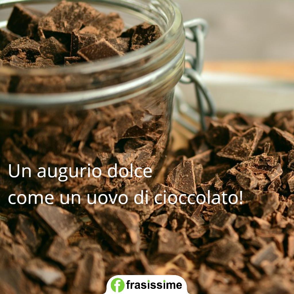 immagini frasi auguri pasqua uovo cioccolato