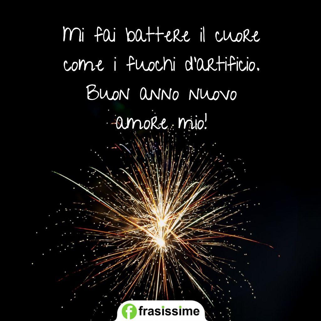 buon anno amore mio battere il cuore fuochi artificio