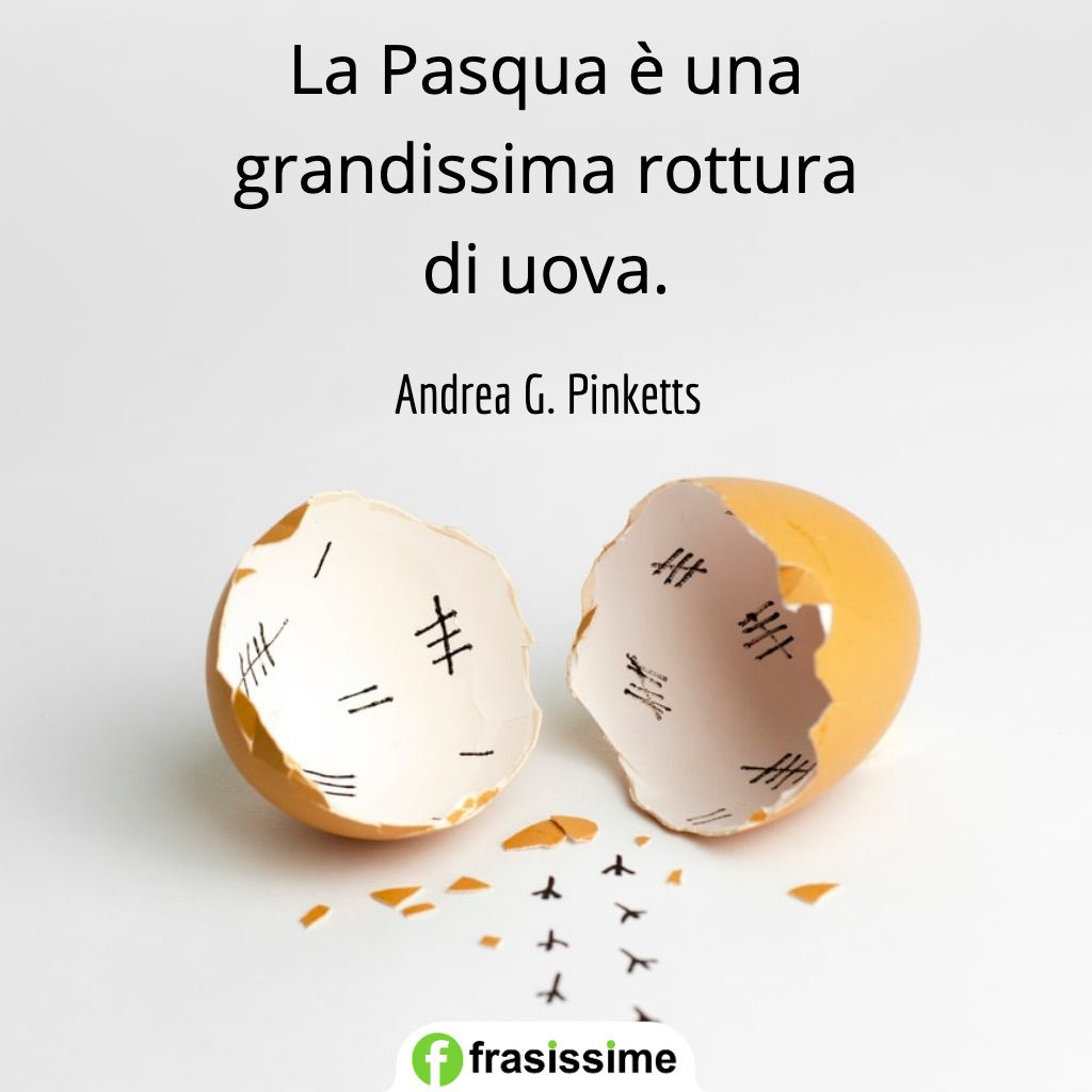 frasi pasqua grandissima rottura uova pinketts