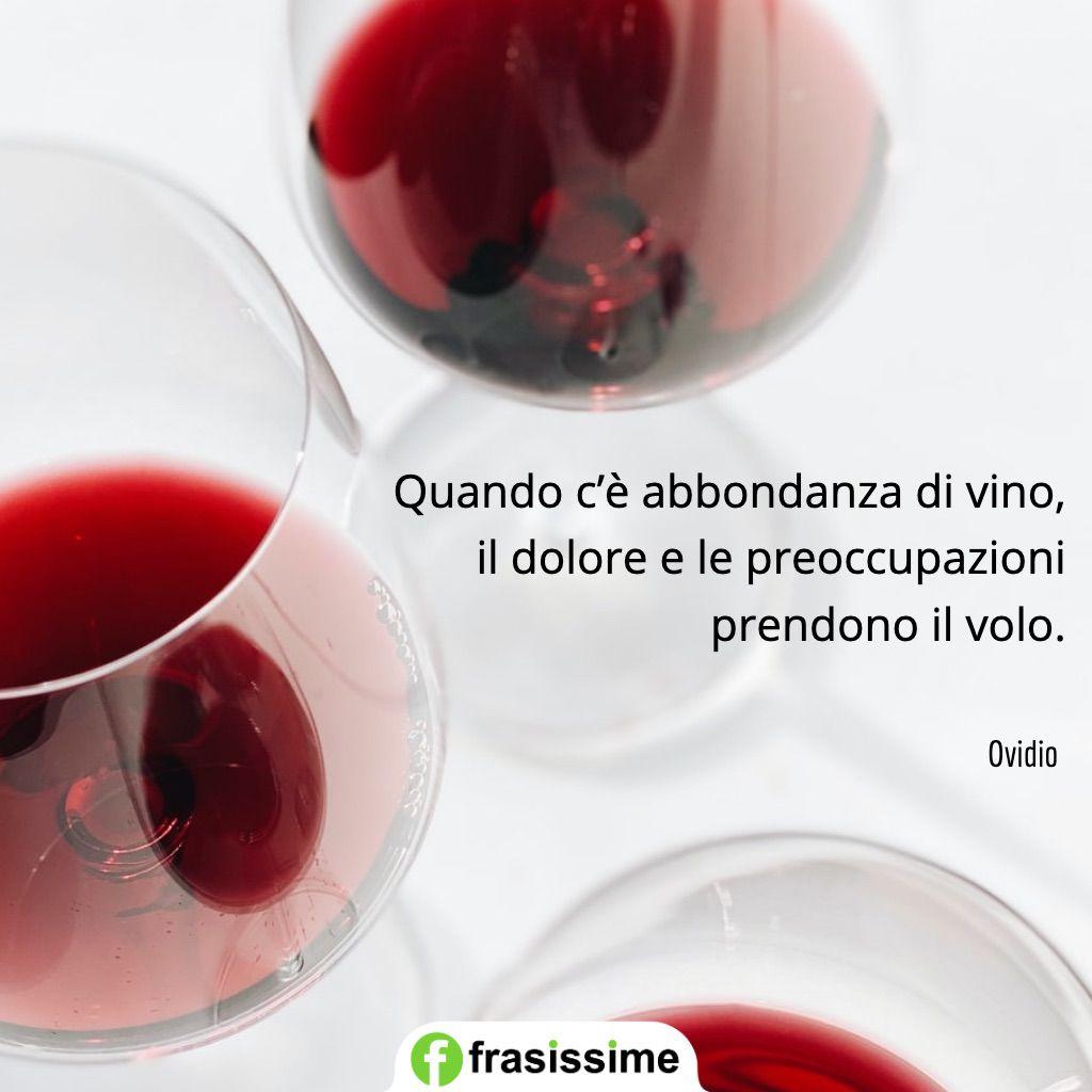 frasi preoccupazioni abbondanza vino dolore prendono volo ovidio